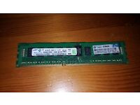SAMSUNG 4GB PC3-10600R DDR3-1333 REGISTERED ECC SERVER MEMORY M393B5270DH0-CH9Q9