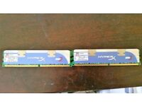 4GB Kingston HyperX 1066MHz CL5 DDR2 Gaming Memory PC2-8500 (KHX8500D2K2/4G) ,