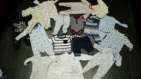 Baby boy 0-3 clothes bundle / job lot