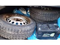 4 Goodyear Winter tyres with very good tread , taken off from Merc Vito Van