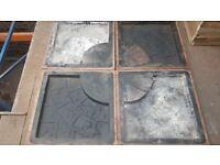 X4 cobble tree planter paving slab moulds concrete flags tiles