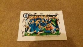 *WOW! CHELSEA FC SIGNED EUROPEAN CUP/ CHAMPIONS LEAGUE WINNERS PHOTO