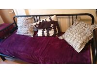 Daybed FYRESDAL IKEA with two mattresses £80 (can be single or double bed)