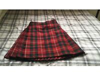 Men's red tartan kilt and shirts
