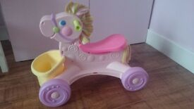 Fisher Price ride on/push along pony