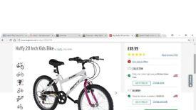 """Girl's Huffy Tempest 20"""" Bike"""