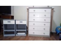 Wardrobe , Chest drawers and 2 Bedside cabinet
