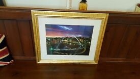 gold framed millennium bridge newcastle