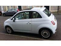 Fiat 500 Lounge 48000 high spec, baby blue