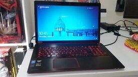 SERIOUS GAMING LAPTOP! TOSHIBA QOSMIO X70-B-10T - CORE I7 - 16GB RAM - 1 TB SSHD - 4GB AMD R9 gpu