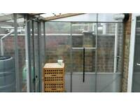 FREE PLASTIC AND STEEL GARDEN ROOM (wall's only no roof )FREE