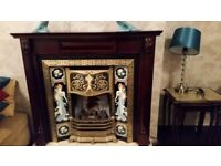 Fireplace insert (tiled) and sarround
