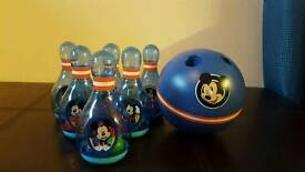 Disney Mickey Mouse bowling set
