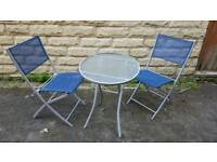 Bistro table and 2 chair patio set