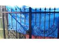 Metal black gates