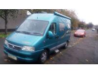 2003 IH Campers Savannah Tio, Fiat ducatto. 2 berth, very low mileage, high quality/spec camper van.