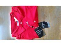 Callaway golf shirt BNWT collared t shirt stunning red genuine Callaway shirt