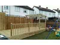 Wooden pergola hot tub shelter 2.4m x 2.4m