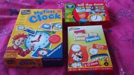 "Three educational ""Tell the Time"" games. Helps child learn how to tell the time."