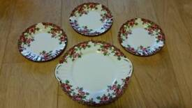 Royal Stafford Olde English Garden side plates cake plate