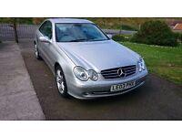 2003 Mercedes CLK 270 cdi full leather interia,driver information.£1750 ono