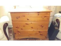 Pine Chest of drawers x 3