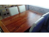 Dining Room table and (6) Chairs for sale (£150 ono)