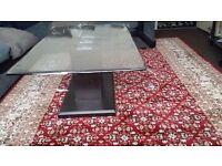 High quality glass coffee table