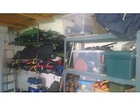 Lots of fishing tackle, rods reels,poles,ect. Some very collectable.