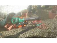 Hedge Cutter and Leaf Hoover for Sale