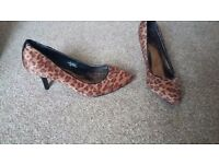 Womens print effect heeled shoes from F&F UK 6