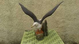 FRANKLIN MINT SUPERB LARGE BIRD ORNAMENT - THE GREAT BLACK BACKED GULL - VGC