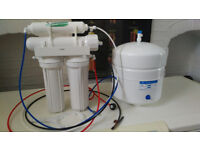 Reverse Osmosis Water Filter and tank