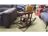 1900's High Chair / Rocking Chair