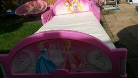 Disney Princess Toddler bed and Mattress