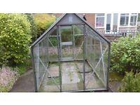 Glass greenhouse 8x4 aluminium frame