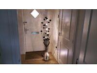 Black Flower Metal Floor Lamp