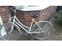 Beautiful Vintage Raleigh Bike White with Yellow Flowers