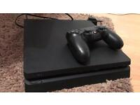 PS4 Slim - hardly used brand new with 3 games