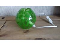 Green Patterned Glass Table Lamp