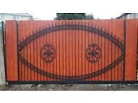 Electric gates Security Gates Fencing Aluminium Welding Metal Fabrication Construction Work Welding