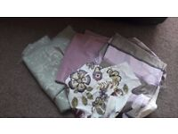 fabric bundle purple, green and pattern suitable for upholstery or crafts