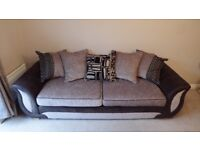 SOLD SOLD SOLD 4 seater sofa and swivel chair. Very comfy and in good condition.