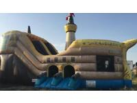 Bouncy castle slide pirate ship