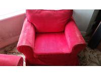 Ektorp Ikea Nordvalla Red 104cm wide armchair