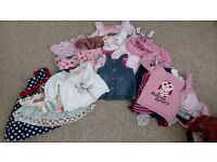 Bundle of girls clothing for 6 - 9 months.
