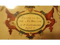 Print of cornwall in frame
