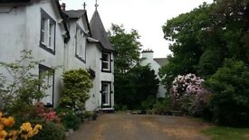 Lovely lower villa in Castle Douglas. Stunning period period property with oodles of potential.