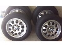 "BMW 15"" Alloy wheels with tyres E46 E36 316 318 320 323 325 328 330"