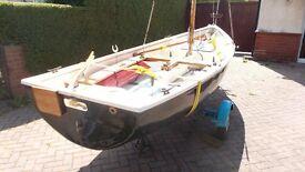 14' GRP Sailing dingy